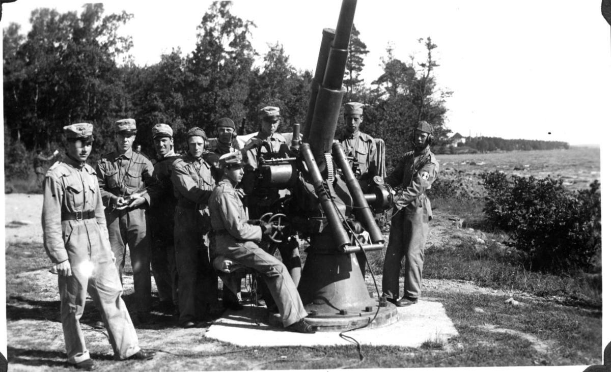 Luftvärnskanon m/1900-17. 7,5 cm. A 9. Karlsborg.