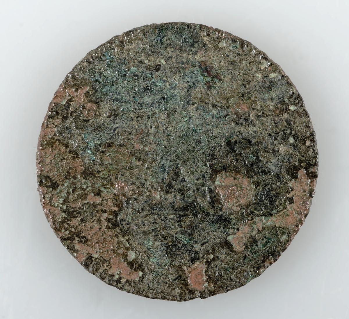 Mynt av koppar. 1 öre km. Präglat 1719-78. Okänd regent.