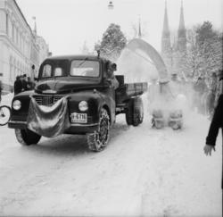 """Vardens arkiv. """"Snøfreser i aksjon i Skiens gater""""  18.02.19"""