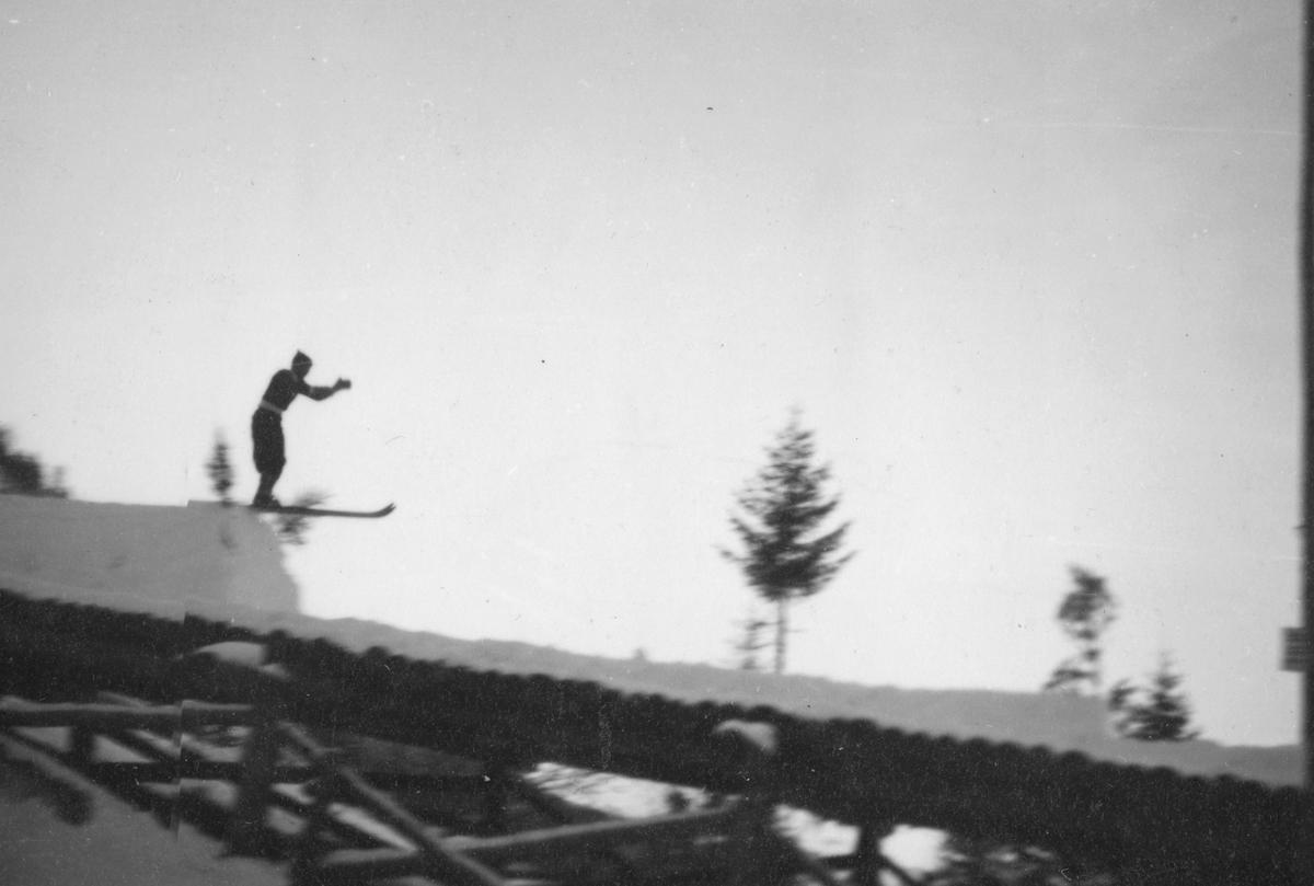 On the ski jump