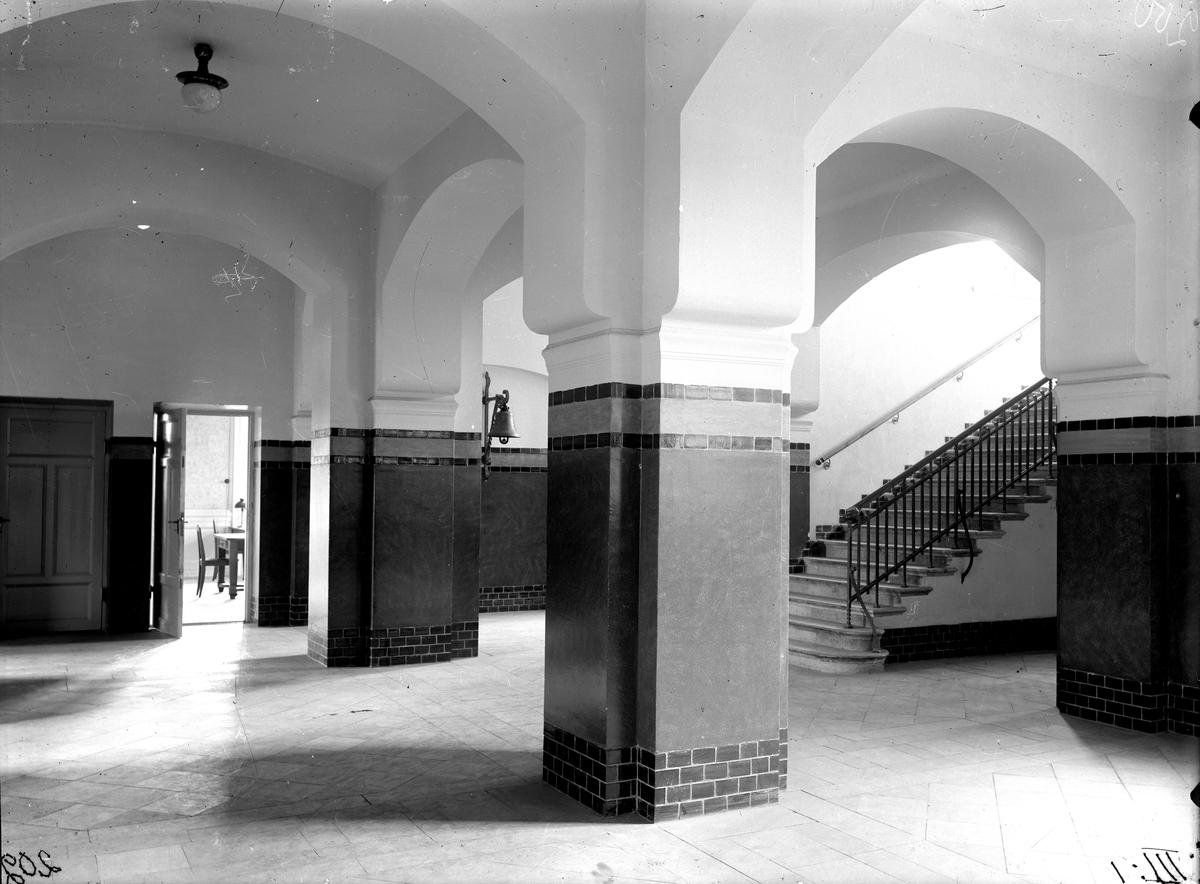 Interiör i nuvarande Karlbergsskolan. 1910.