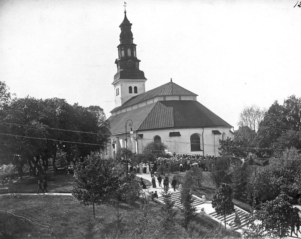 Sångarhyllning vid Scheeles grav 1912