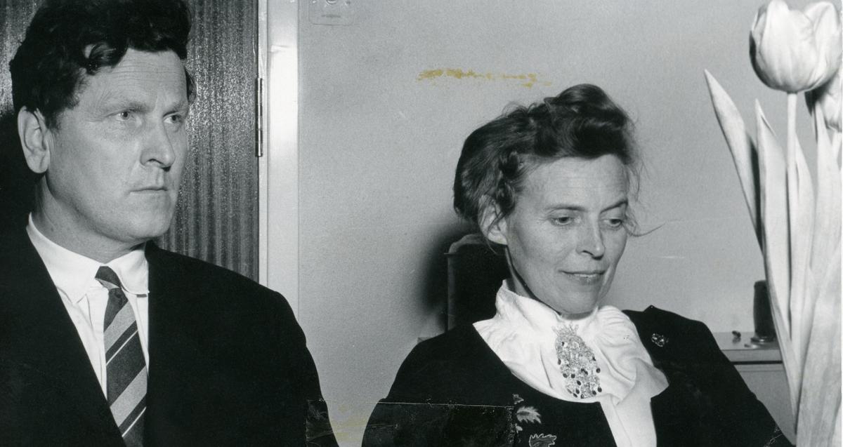 Prospektkort av Reidar og Margit Nielsen.