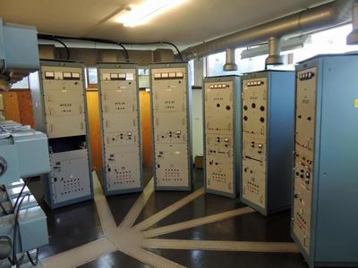 Radio- og kringkastingsstasjoner. Vigreskogen, senderstasjon Rogaland radio interiør (Foto/Photo)