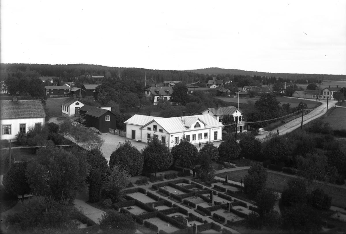 Kyrkbyn, Torsåker. Foto från kyrktornet 1914.