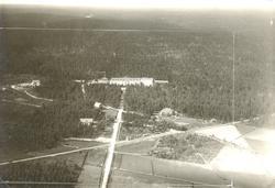 Flygfoto över Målilla sanatorium, som var i drift 1915-1973.