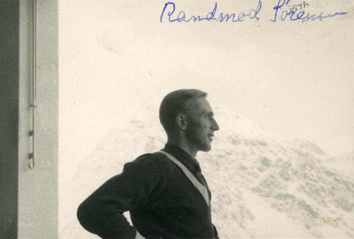 Athlete Randmod Sørensen in Europe somewhere