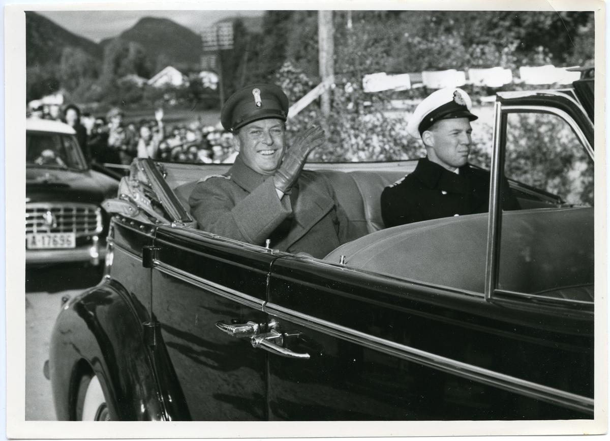 H. K. H. Kronprinsen kjem til jubileumsutstillinga i Kviteseid.