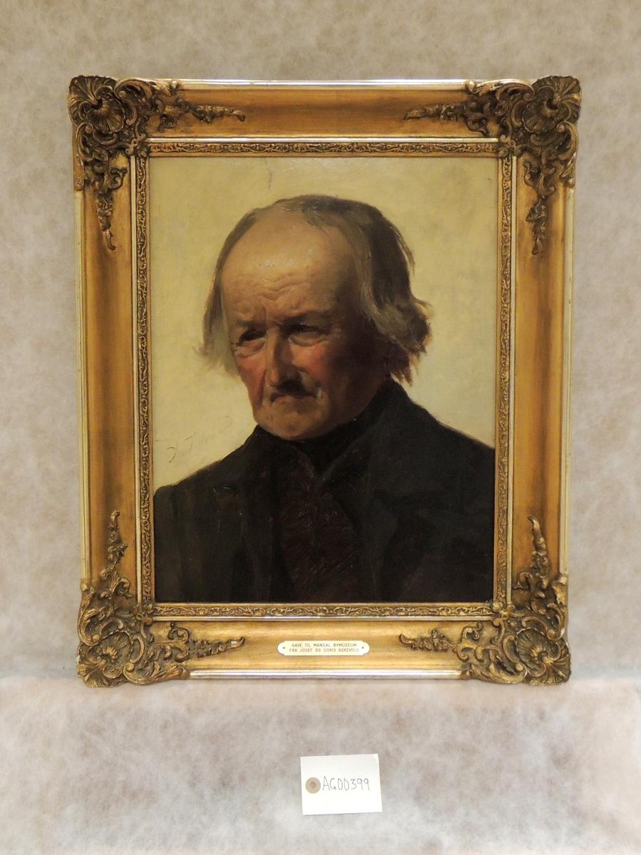 Portrett av eldre mann.