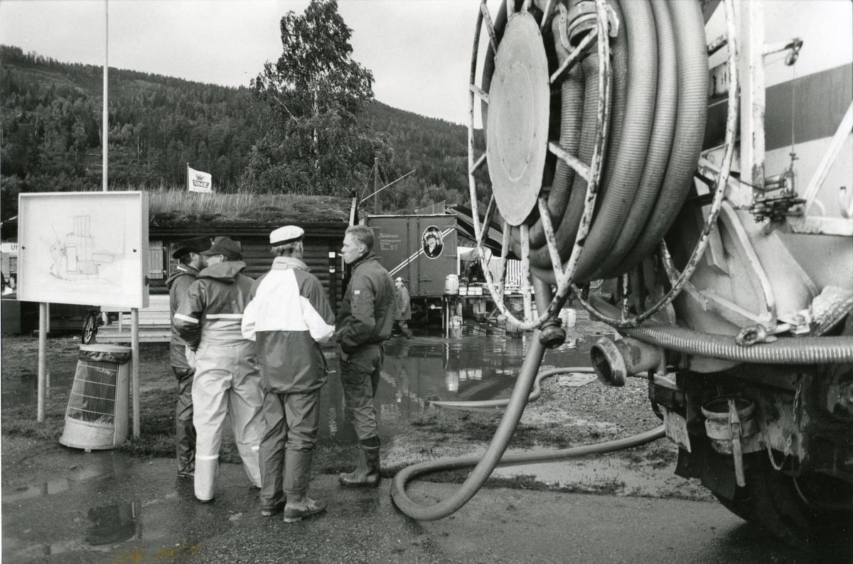 Pumping av dei store vannmassene