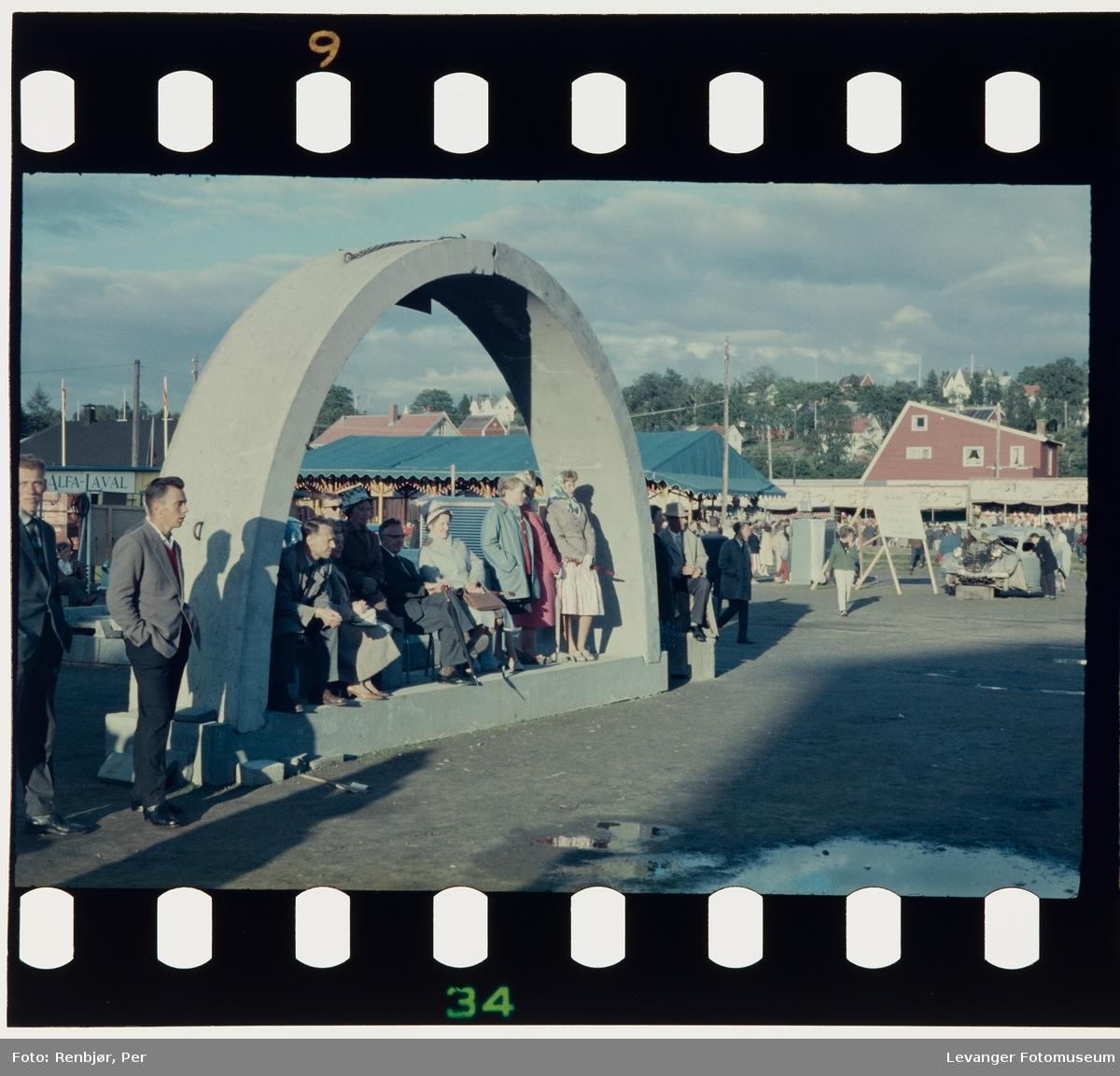Fra 125-års jubileet i Levanger 1961, utstillingsplassen.