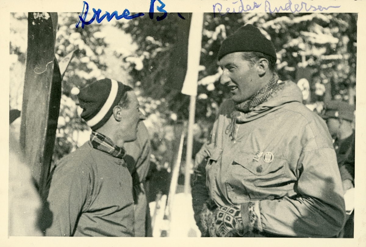 Athletes Birger Ruud and Reidar Andersen at Garmisch