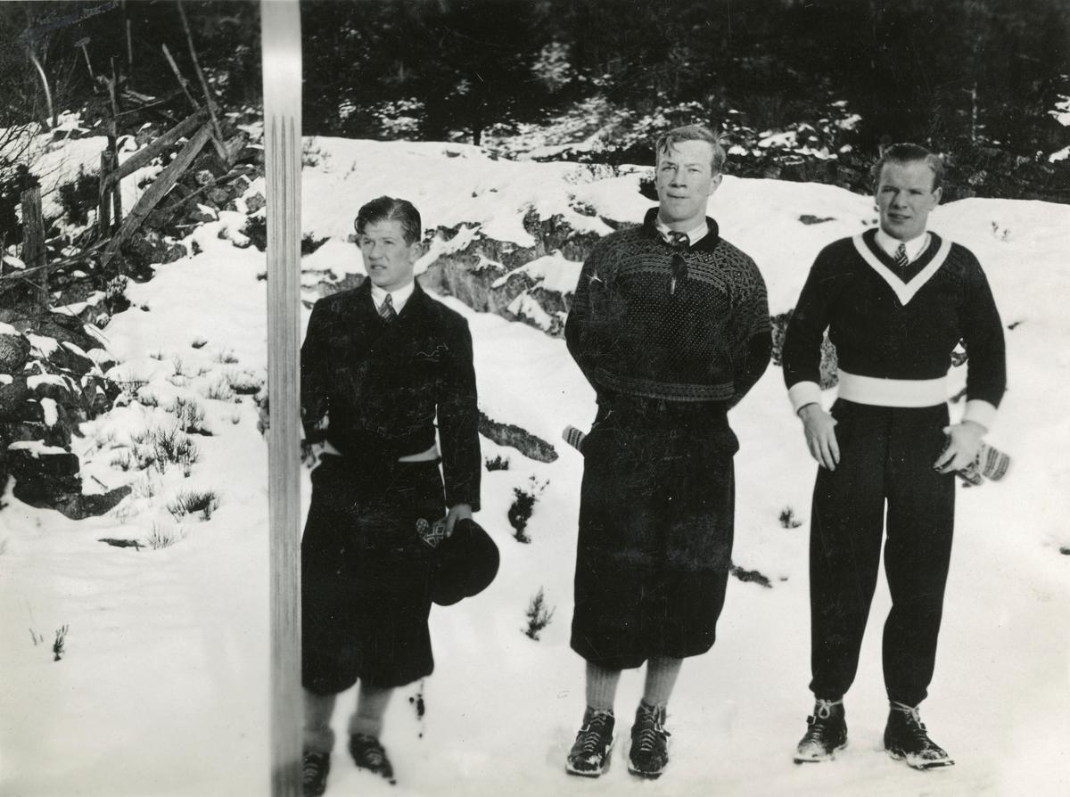 3 Kongsberg skiers