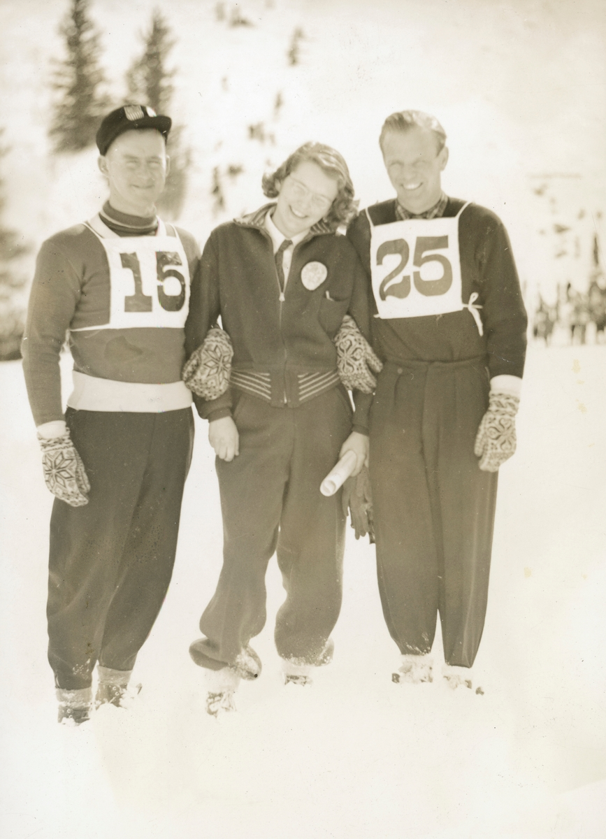 Athlete Sigmund Ruud with American friends