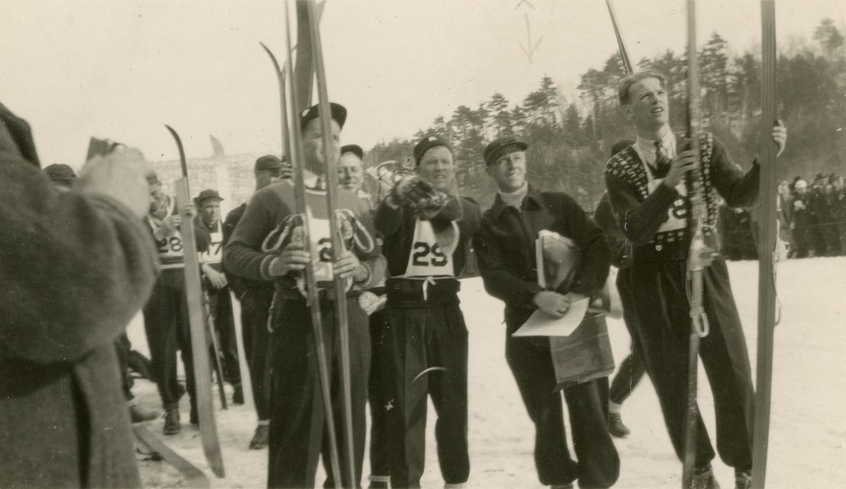 Kongsberg skiers during competition in Brattleboro, Vermont