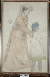 Skeppsbron 1907 [Akvarellmålning]