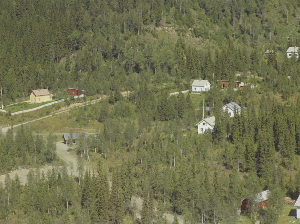 Flere bolighus med Veines helt bak, Svatsum, Vestre Gausdal.