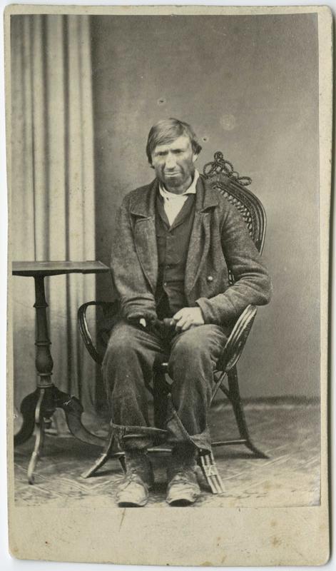 Rolf Ellingsen fra Støren, arrestert i Drammen i 1867, innsatt i distriktsfengslet i Hokksund for betleri