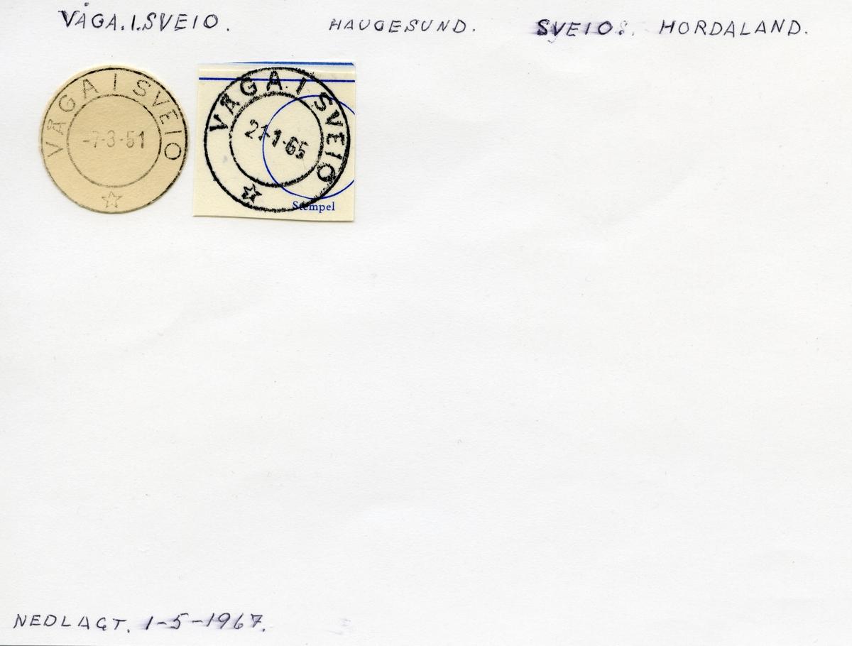 Stempelkatalog  Vågå i Sveio, Sveio kommune, Hordaland