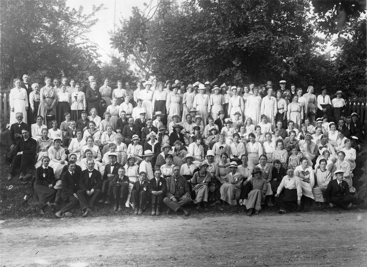 Gruppbild, sekelskifte 18-1900.