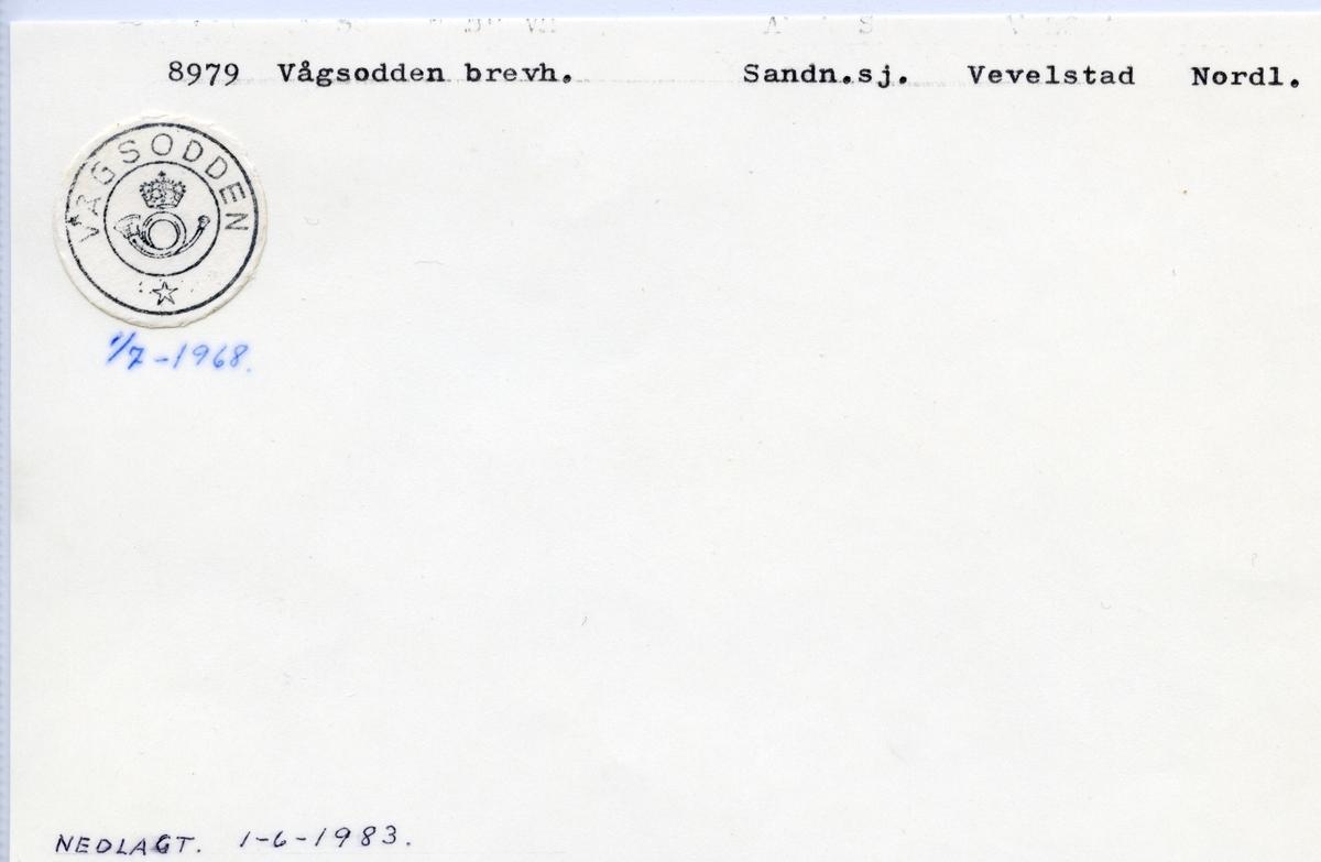 Stempelkatalog  8979 Vågsodden, Vevelstad kommune, Nordland