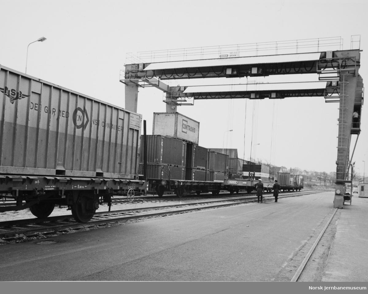 Containerkranen på Sandnes stasjon