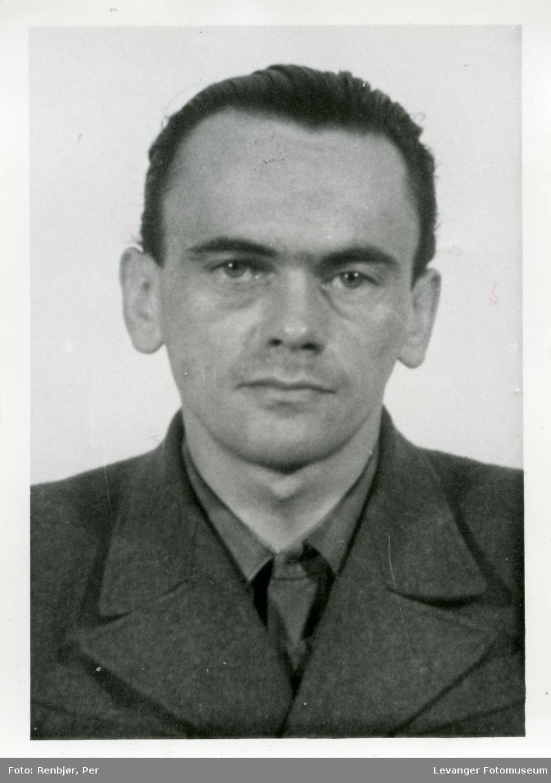 Henry Rinnan, fotografi tatt i forbindelse med rettsaken.