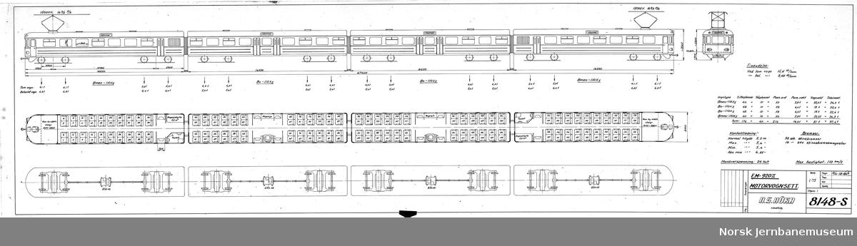 HØKA EM-920II Motorvognsett Prosjekt, ikke realisert