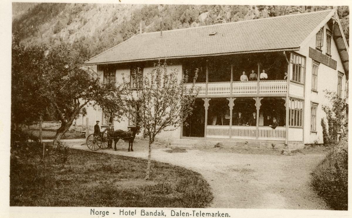 Postkort med motiv av Hotel Bandak, Dalen i Telemark