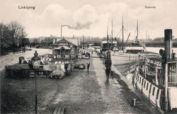 Orig. text: Linköping Hamnen. Linköpings hamn sedd mot norr
