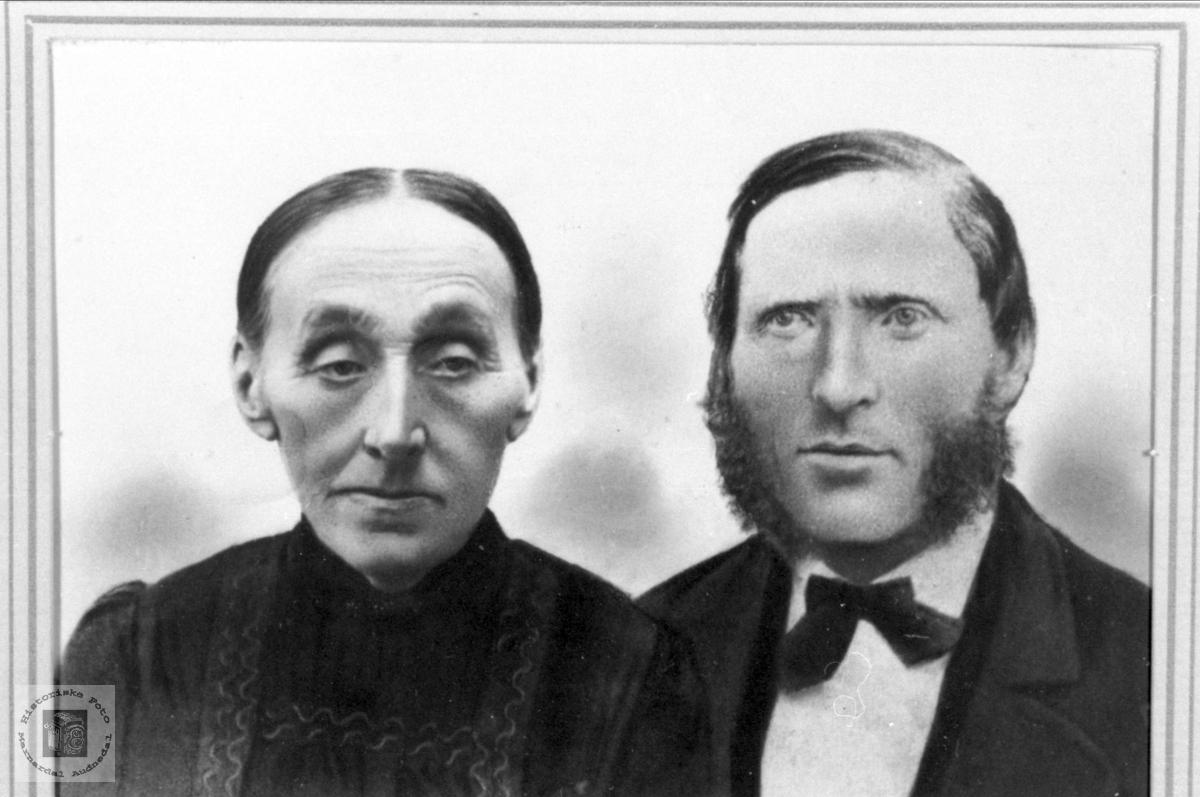 Ekteparet Anne Gurine og Søren Aasen, Øyslebø.