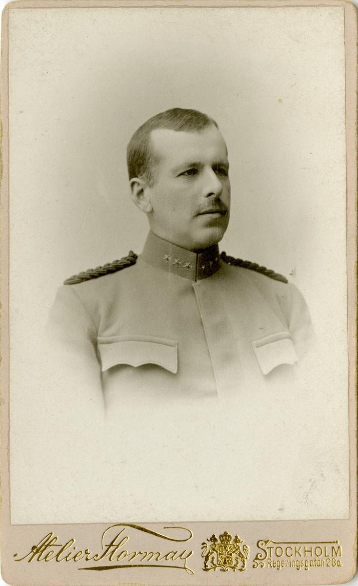 Porträtt av Carl Adolf Alfred Murray, kapten vid Fortifikationen.