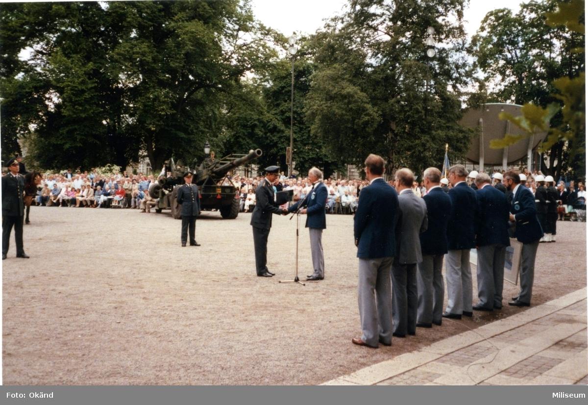 Avskedsceremoni, A 6. Carlsson, Carlson, Lilliecreutz.