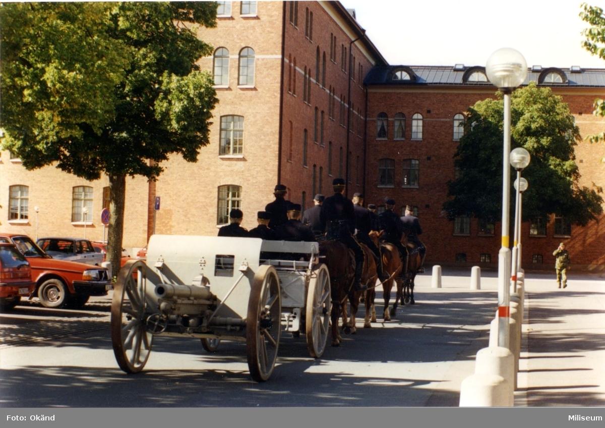 Frivilligförsvarets dag. Artilleriavdelningen i Göteborg.