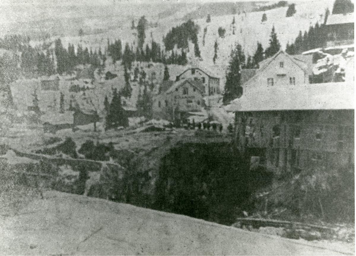 Bagn sentrum etter krigshandlingene i april 1940
