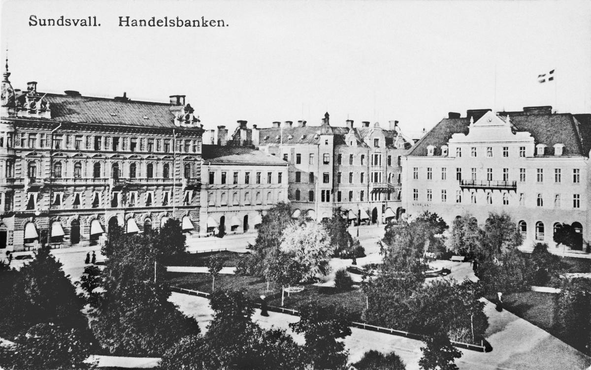 Sundsvall, Handelsbanken. Vykort.