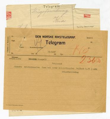 Krigsforsikringsdokument fra første verdenskrig.. Foto/Photo