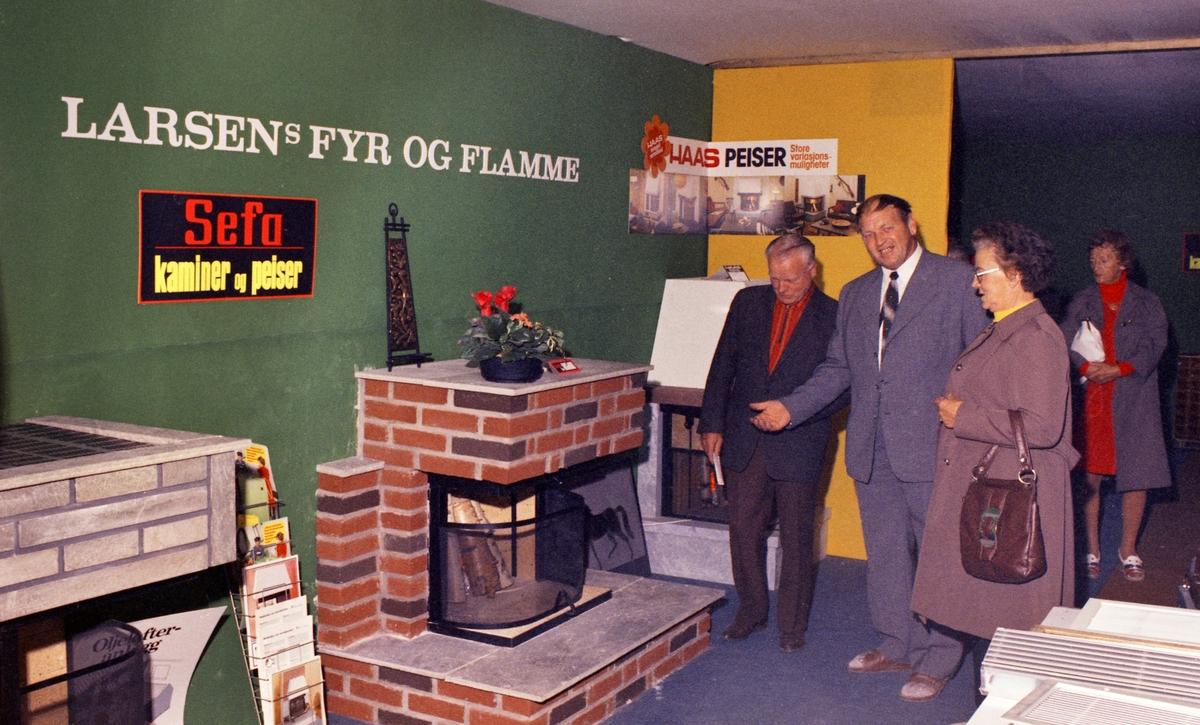 Interiør og utstilling for Larsen Fyr og Flamme, Lillestrøm