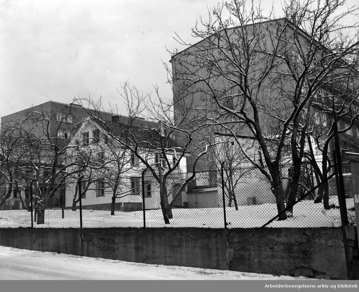 Langgata: Sukkersykehjemmet. Desember 1949