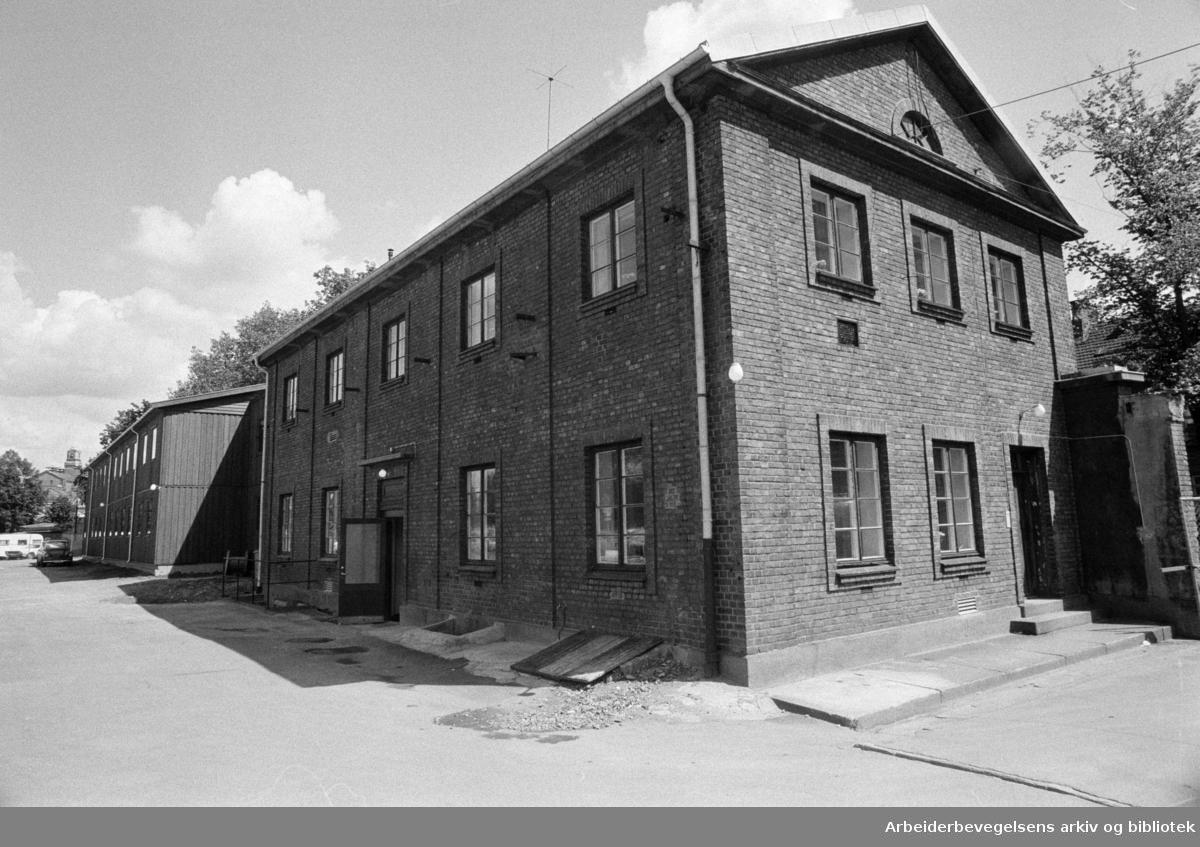 Gassverket: Velferdsbygget (Det gamle). Juni 1972