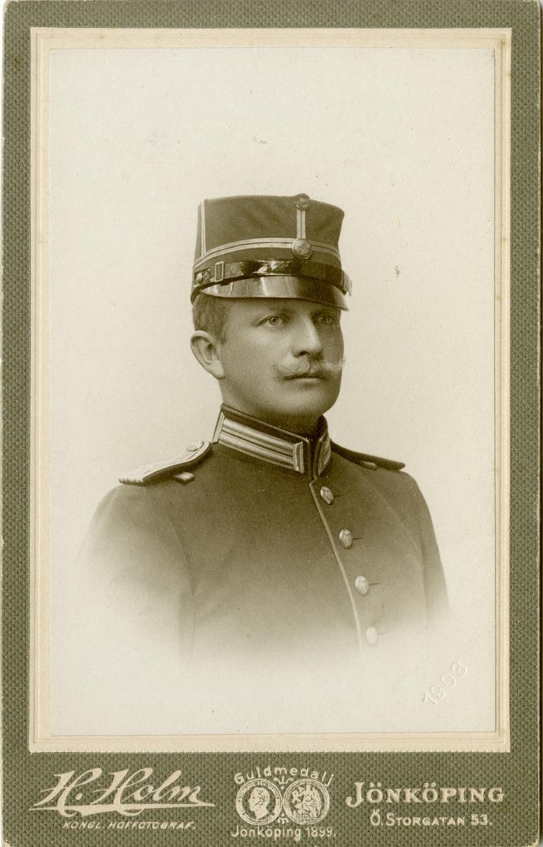 Porträtt av löjtnant vid Södra skånska infanteriregementet I 25.