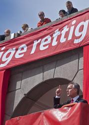1. mai 2013, statsminister Jens Stoltenberg taler på Youngst