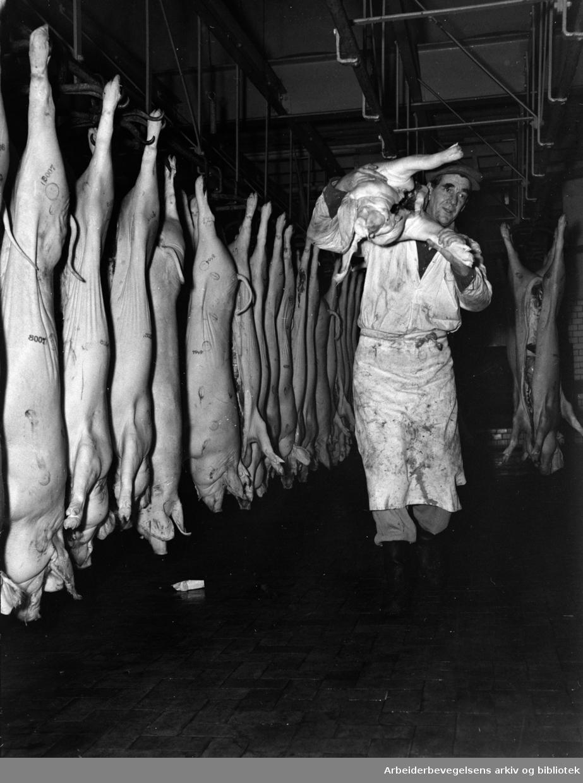 Kjøtthallen på Grønland, 1950 - 1952.