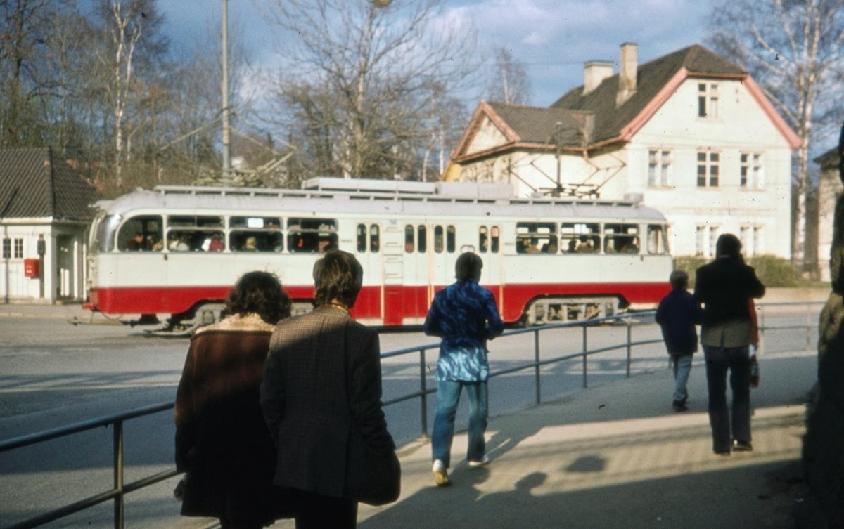 Ekebergbanens sporvogn på Skøyen.