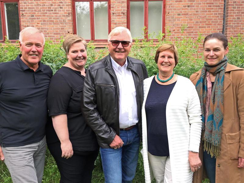 F.v.: Georg Jensen, Silje Cathrin Fylkesnes, Jan Torkehagen, Gunhild Aalstad og Mona Myrland