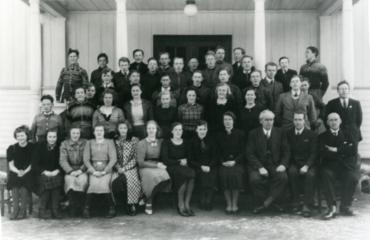 Elevgruppe ved Vestoppland Folkehøgskole.