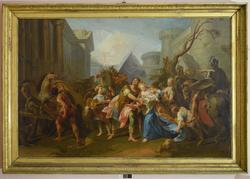 Hektors avskjed med Andromakhe og sønnen Astyanax [Lerretsma
