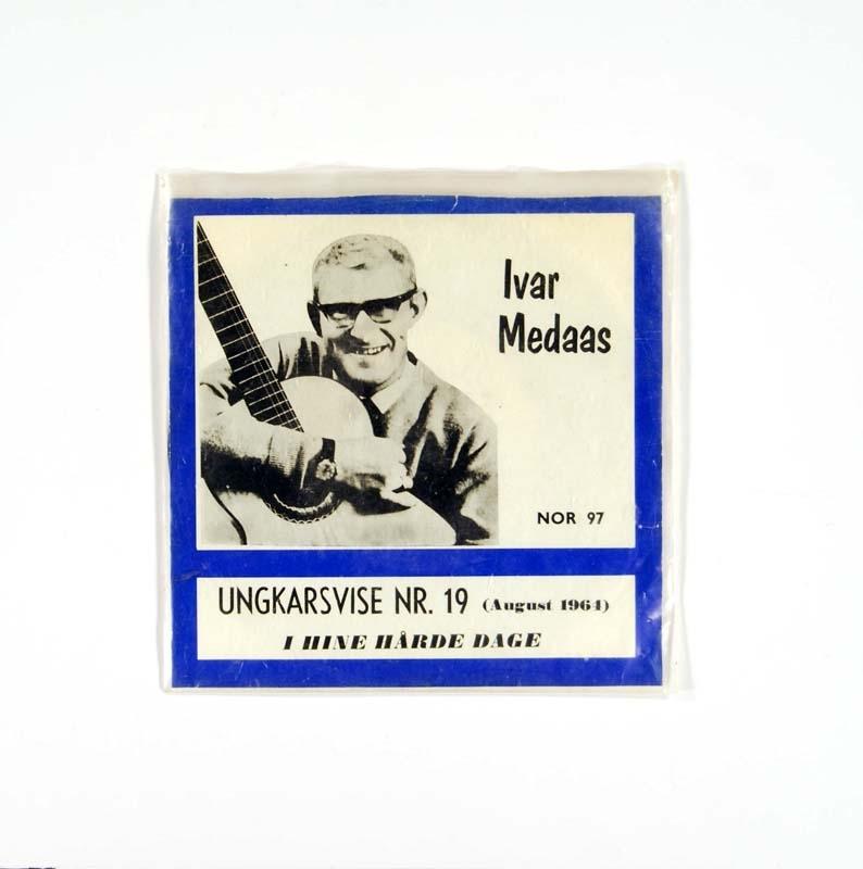 Grammofonplate med cover.