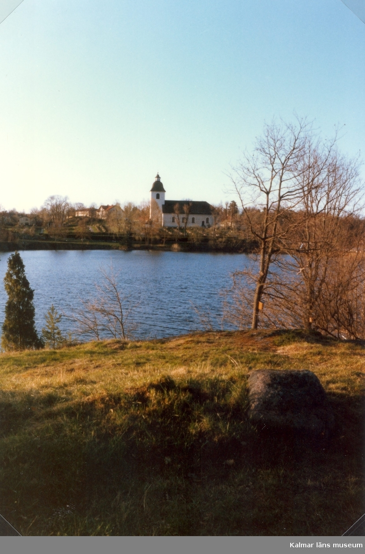 Motiv av Hjorteds kyrka.