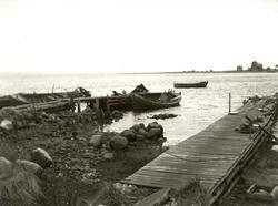 Gamla hamnen i lågvatten.